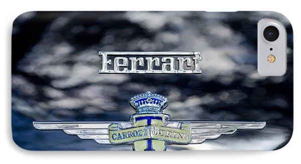 1950 Ferrari Emblem Phone Case by Jill Reger