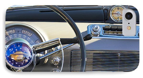 1950 Oldsmobile Rocket 88 Steering Wheel 3 IPhone Case by Jill Reger