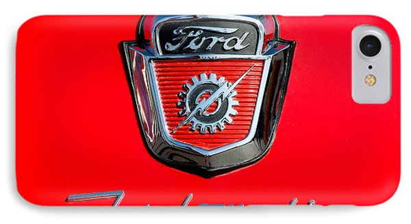 1950's Ford F-100 Fordomatic Pickup Truck Hood Emblems IPhone Case by Jill Reger