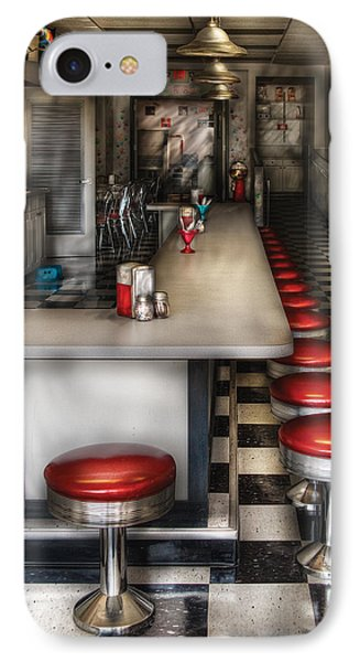 1950's - The Ice Cream Parlor  Phone Case by Mike Savad