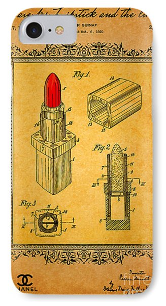 1952 Chanel Lipstick Case 3 IPhone Case by Nishanth Gopinathan