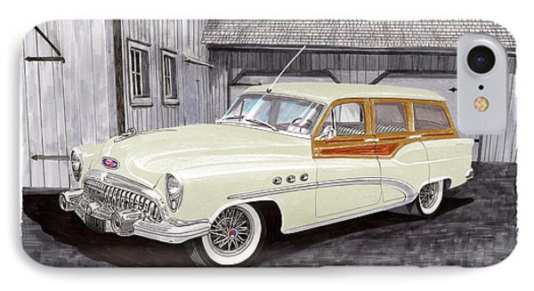 1953 Buick Estate Wagon Woody IPhone Case by Jack Pumphrey