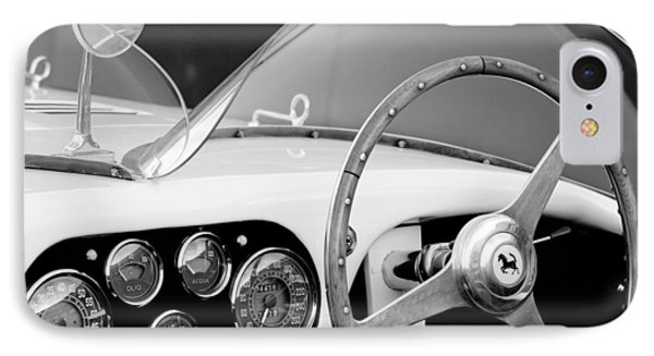 1953 Ferrari 340 Mm Lemans Spyder Steering Wheel Emblem IPhone Case by Jill Reger