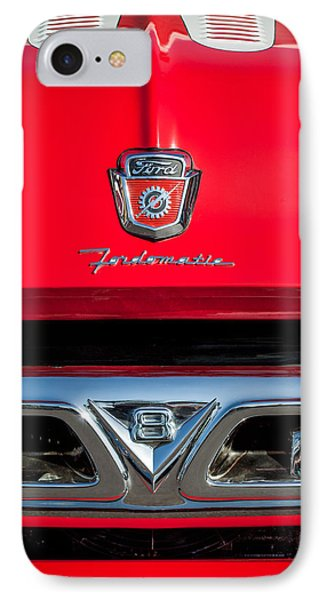 1953 Ford F-100 Fordomatic Pickup Truck Grille Emblems -0108c IPhone Case by Jill Reger