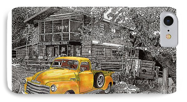 1955 Chevy Pick Up Truck In Lake Robers N M  IPhone Case by Jack Pumphrey