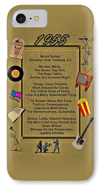 1955 Great Events IPhone Case by Movie Poster Prints