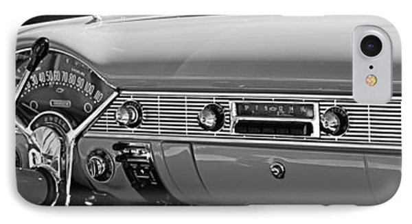 1956 Chevrolet Belair Convertible Custom V8 Dashboard IPhone Case by Jill Reger