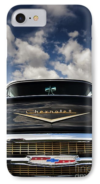 1957 Black Chevrolet Bel Air  IPhone Case by Tim Gainey
