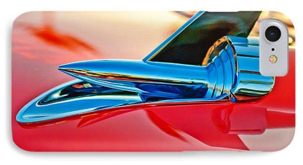 1957 Chevrolet Belair Hood Ornament Phone Case by Jill Reger