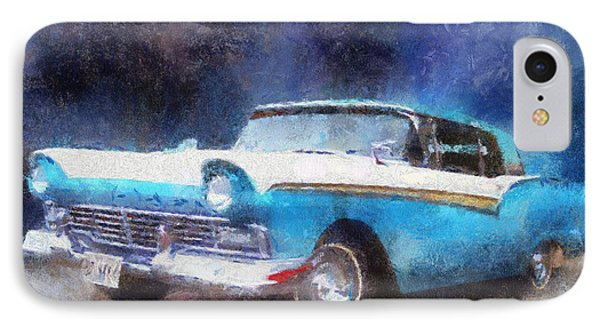 1957 Ford Classic Car Photo Art 02 Phone Case by Thomas Woolworth