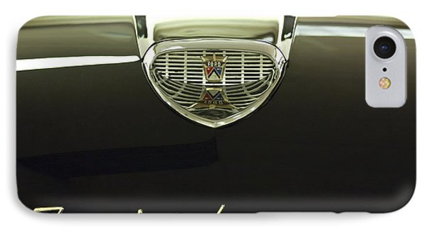 1958 Ford Fairlane 500 Victoria Hood Ornament Phone Case by Jill Reger