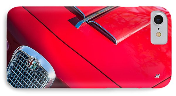 1959 Alfa Romeo 2000 Spider Grille Emblem IPhone Case by Jill Reger