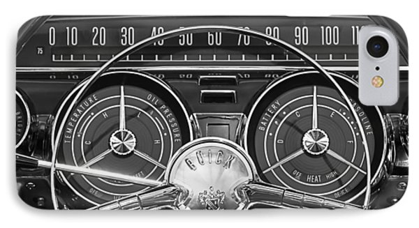 1959 Buick Lasabre Steering Wheel IPhone Case by Jill Reger