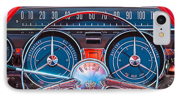1959 Buick Lesabre Steering Wheel IPhone Case by Jill Reger