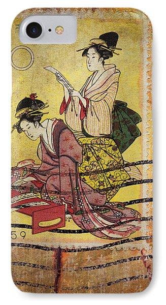 1959 Japanese Postcard Mail Phone Case by Carol Leigh