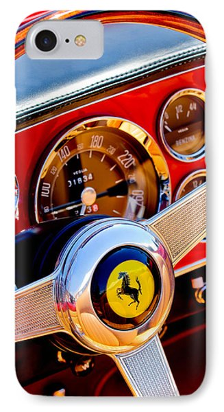 1960 Ferrari 250 Gt Cabriolet Pininfarina Series II Steering Wheel Emblem -1319c IPhone Case by Jill Reger