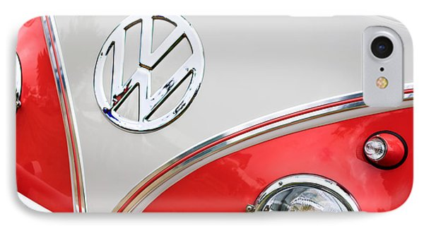 1960 Volkswagen Vw 23 Window Microbus Emblem IPhone Case by Jill Reger