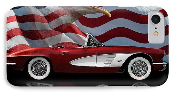1961 Corvette Tribute IPhone Case by Peter Piatt