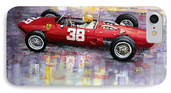 1962 Ricardo Rodriguez Ferrari 156 Phone Case by Yuriy Shevchuk