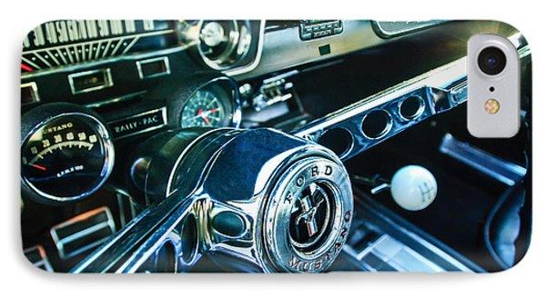 1965 Shelby Prototype Ford Mustang Steering Wheel Emblem 2 Phone Case by Jill Reger