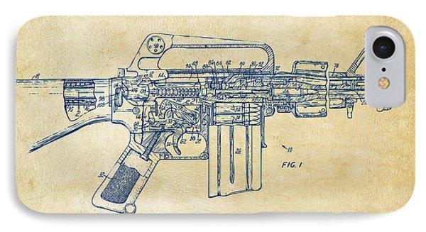 1966 M-16 Gun Patent Vintage IPhone Case by Nikki Marie Smith