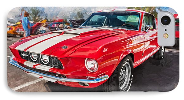 1967 Ford Shelby Mustang Gt500 Painted  IPhone Case by Rich Franco