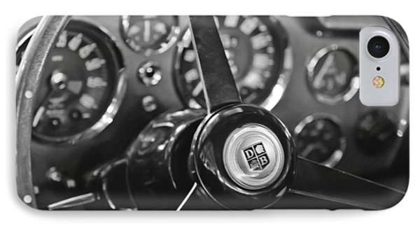 1968 Aston Martin Steering Wheel Emblem IPhone Case by Jill Reger