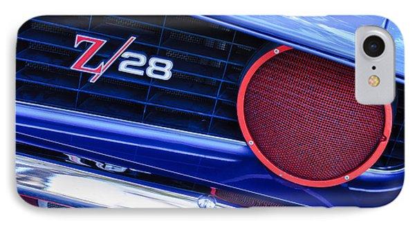 1969 Chevrolet Camaro Z28 Grille Emblem Phone Case by Jill Reger