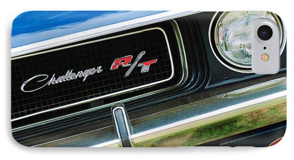 1970 Dodge Challenger Rt Convertible Grille Emblem Phone Case by Jill Reger