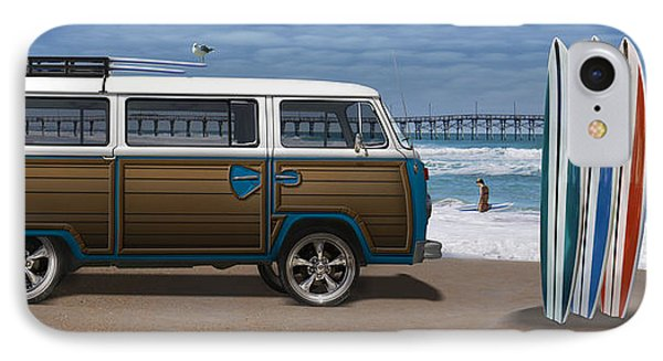 1970 Vw Bus Woody IPhone Case by Mike McGlothlen