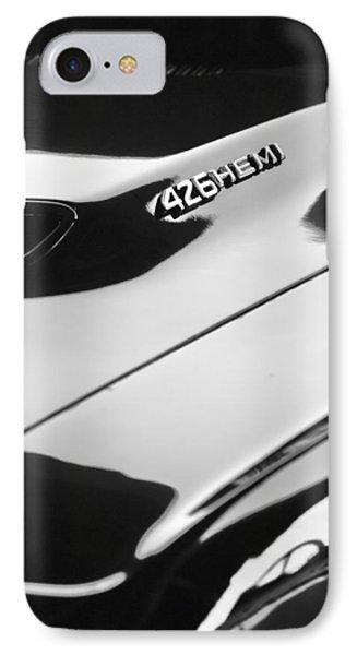 1971 Dodge 426 Hemi Challenger Rt Hood Emblem Phone Case by Jill Reger
