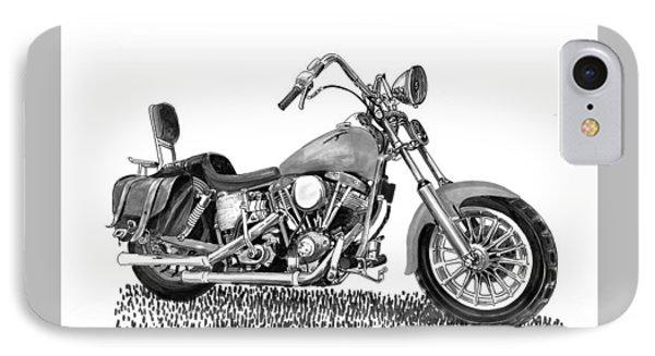 1971 Harley Davidson S O A Shovel Head F  L IPhone Case by Jack Pumphrey