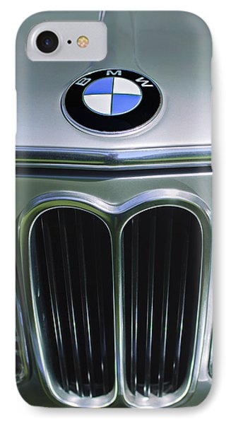 1972 Bmw 2000 Tii Touring Grille Emblem IPhone Case by Jill Reger