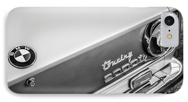 1972 Bmw 2000 Touring Tii Taillight Emblem -0159bw IPhone Case by Jill Reger