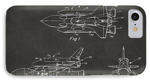 1975 Space Shuttle Patent - Gray IPhone Case by Nikki Marie Smith