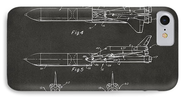 1975 Space Vehicle Patent - Gray IPhone Case by Nikki Marie Smith