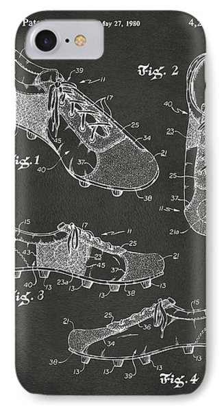 1980 Soccer Shoes Patent Artwork - Gray IPhone Case by Nikki Marie Smith