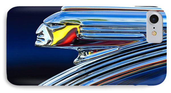 1939 Pontiac Silver Streak Chief Hood Ornament IPhone Case by Jill Reger