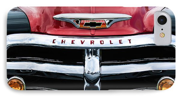 1955 Chevrolet 3100 Pickup Truck Grille Emblem IPhone Case by Jill Reger