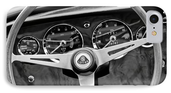 1965 Lotus Elan S2 Steering Wheel Emblem IPhone Case by Jill Reger