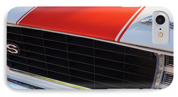 96 Inch Panoramic -1969 Chevrolet Camaro Rs-ss Indy Pace Car Replica Grille - Hood Emblems IPhone Case by Jill Reger
