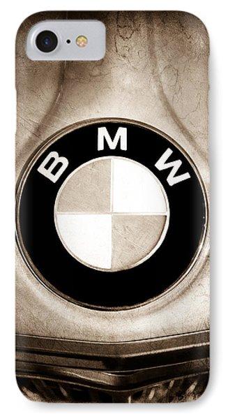 1972 Bmw 2000 Tii Touring Emblem IPhone Case by Jill Reger