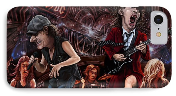 Ac/dc IPhone Case by Andre Koekemoer