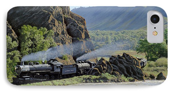 At Point Of Rocks-bound For Yellowstone IPhone Case by Paul Krapf