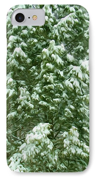 Beautiful Winter Tree Phone Case by Lanjee Chee