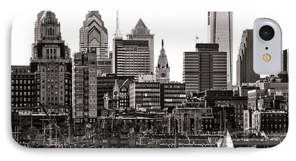 Center City Philadelphia IPhone Case by Olivier Le Queinec