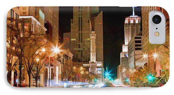 Chicago Michigan Avenue Light Streak Phone Case by Christopher Arndt