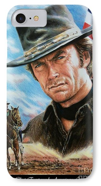 Clint Eastwood American Legend IPhone Case by Andrew Read