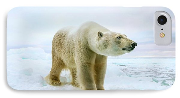 Close Up Of A Standing Polar Bear IPhone 7 Case by Peter J. Raymond