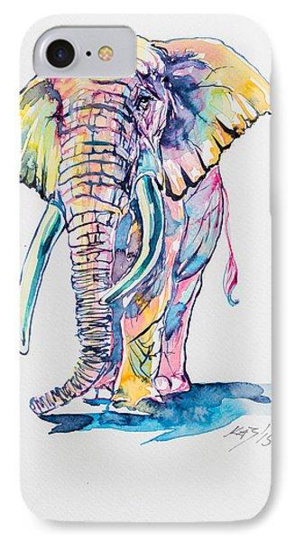 Colorful Elephant IPhone Case by Kovacs Anna Brigitta